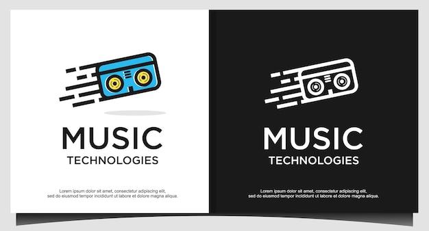 Modèle de conception de logo de cassette