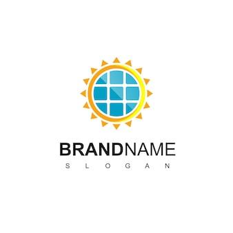 Modèle de conception de logo de cellule solaire