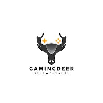Modèle de conception de logo de cerf de jeu