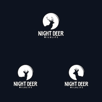 Modèle de conception de logo de cerf de plein air et d'aventure