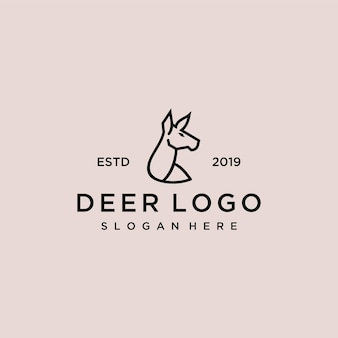 Modèle de conception de logo de cerf
