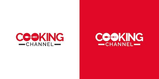 Modèle de conception de logo de chaîne de cuisine