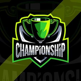 Modèle de conception de logo de championnat