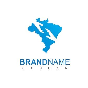 Modèle de conception de logo de charité au brésil