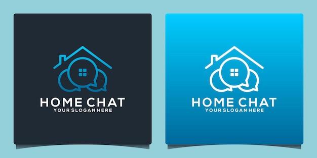 Modèle de conception de logo de chat à domicile
