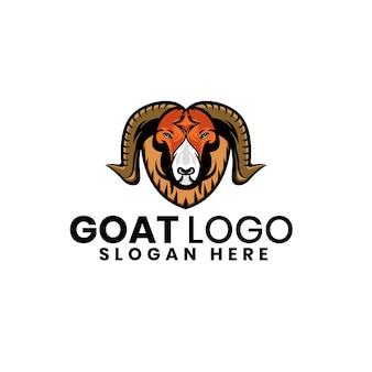 Modèle de conception de logo de chèvre