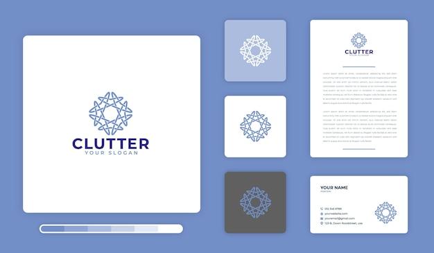 Modèle de conception de logo clutter