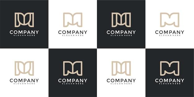 Modèle de conception de logo de collection abstraite lettre b