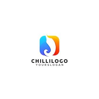 Modèle de conception de logo coloré chili