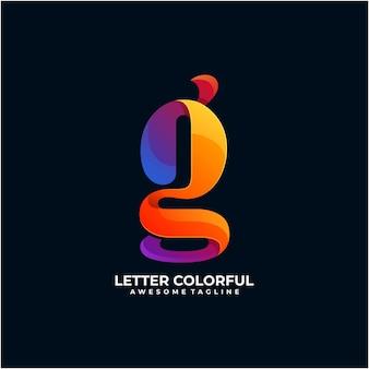 Modèle de conception de logo coloré lettre couleur moderne
