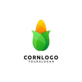 Modèle de conception de logo coloré de maïs
