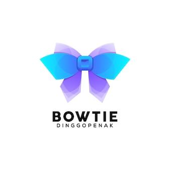 Modèle de conception de logo coloré noeud papillon