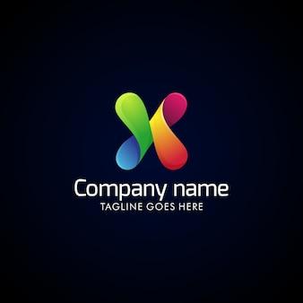 Modèle de conception de logo coloré