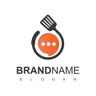 Modèle de conception de logo de commande de nourriture