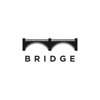Modèle de conception de logo de concept de pont