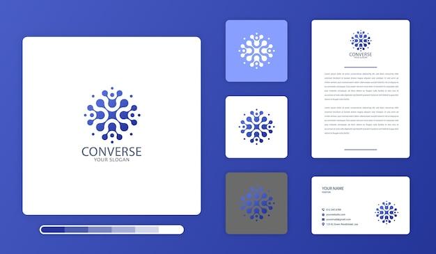 Modèle de conception de logo converse