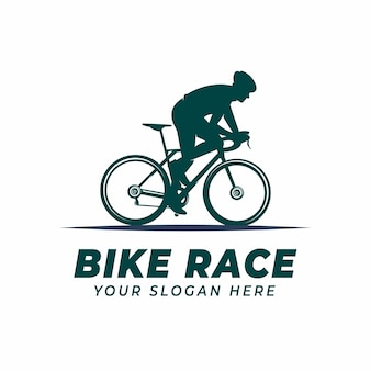 Modèle de conception de logo de course de vélo pour les logos de championnat