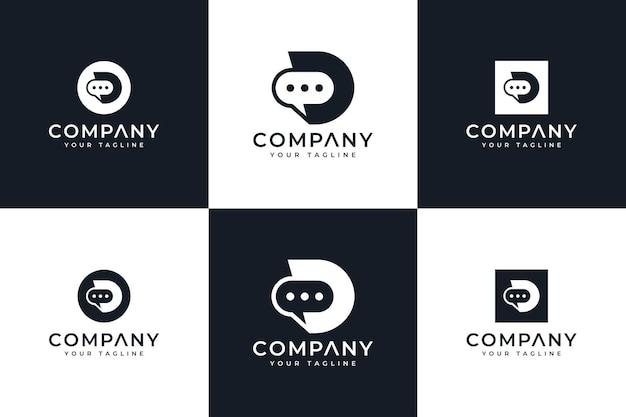 Modèle de conception de logo créatif et de carte de visite lettre c hexagone vecteur premium