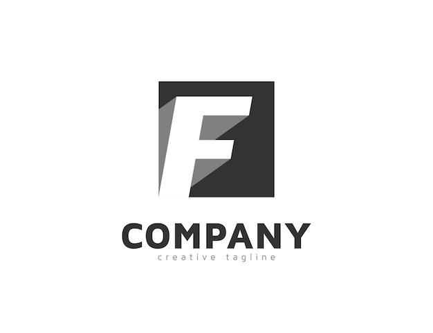 Modèle de conception de logo créatif lettre f