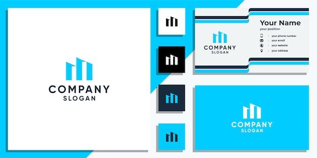 Modèle de conception de logo créatif lettre m et carte de visite