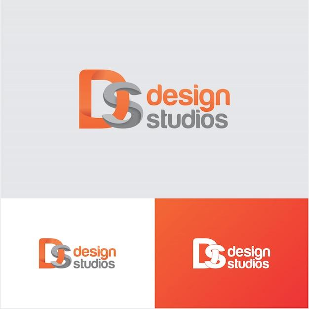 Modèle de conception de logo creative ds design studio