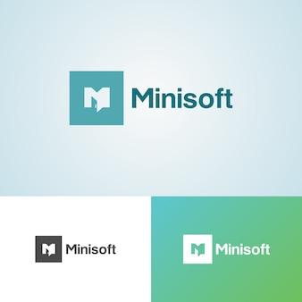 Modèle de conception de logo creative minisoft software company