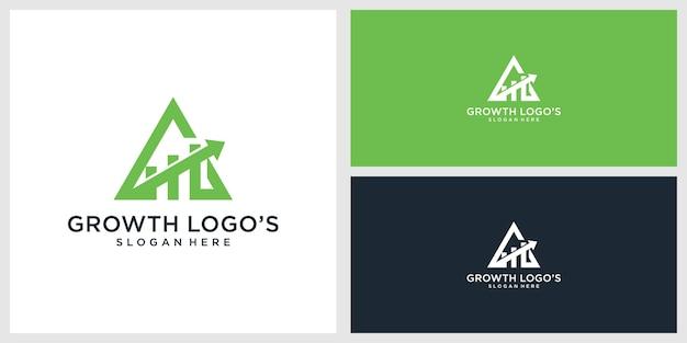 Modèle de conception de logo de croissance
