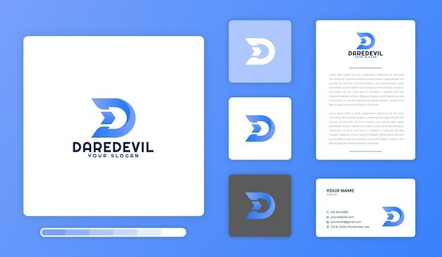 Modèle de conception de logo daredevil