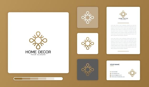 Modèle de conception de logo de décoration intérieure