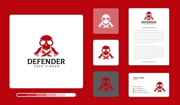 Modèle de conception de logo defender