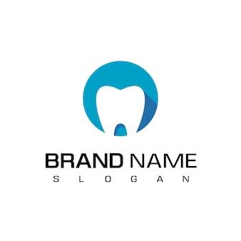 Modèle de conception de logo dentaire cercle