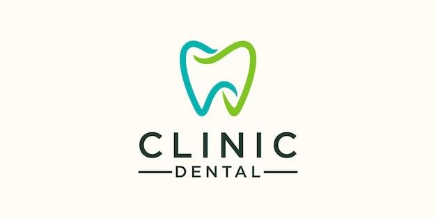Modèle de conception de logo dentaire clinique simple