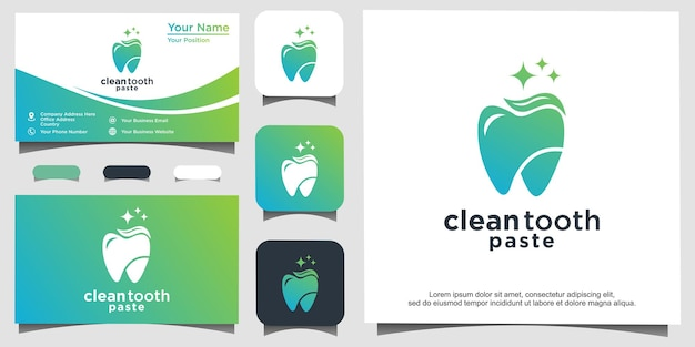 Modèle de conception de logo dentaire. résumé de dent d'icône