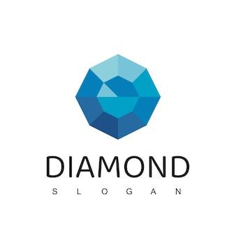 Modèle de conception de logo de diamant