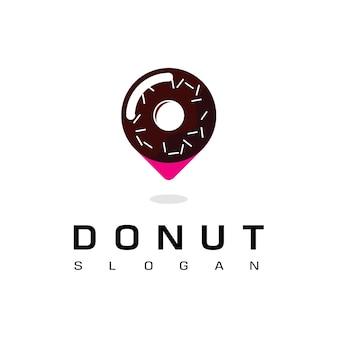Modèle de conception de logo donut place