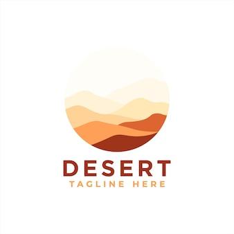 Modèle de conception de logo du désert