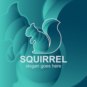 Modèle de conception de logo écureuil