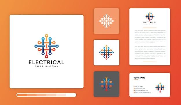 Modèle de conception de logo électrique