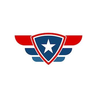 Modèle de conception de logo d'emblème de bouclier