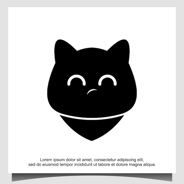 Modèle de conception de logo emoji chat