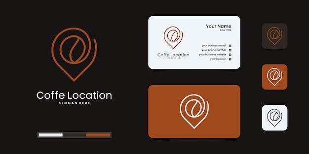 Modèle de conception de logo d'emplacement de café