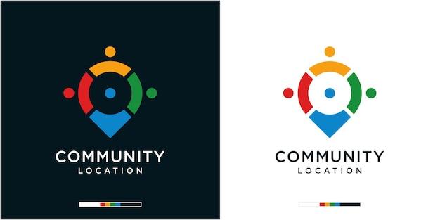 Modèle de conception de logo d'emplacement communautaire