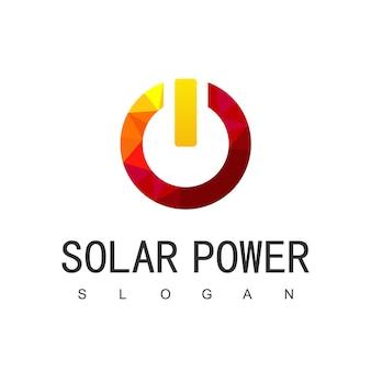 Modèle de conception de logo de l'énergie solaire, l'énergie solaire, l'icône de l'énergie écologique,
