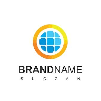 Modèle de conception de logo d'énergie solaire