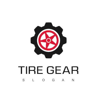 Modèle de conception de logo d'engrenage de pneu