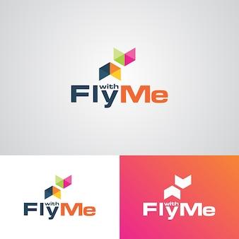 Modèle de conception de logo d'entreprise creative creative airline