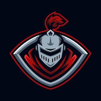 Modèle de conception de logo esport chevalier