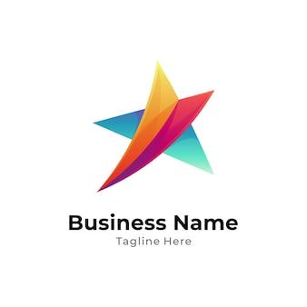 Modèle de conception de logo étoile simple
