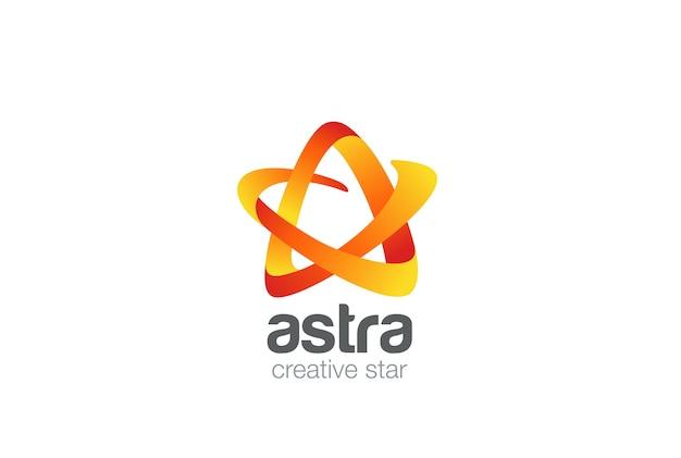 Modèle de conception de logo étoile.