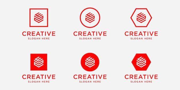 Modèle de conception de logo ez initiales